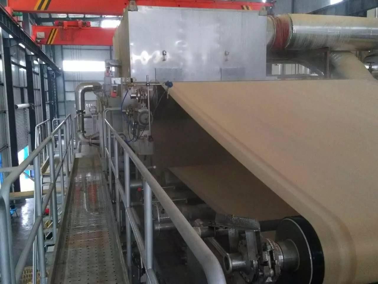 【开门红】环龙技术织物为环龙新材料第一台宝拓高速卫生纸机提供毛毯,开机成功!