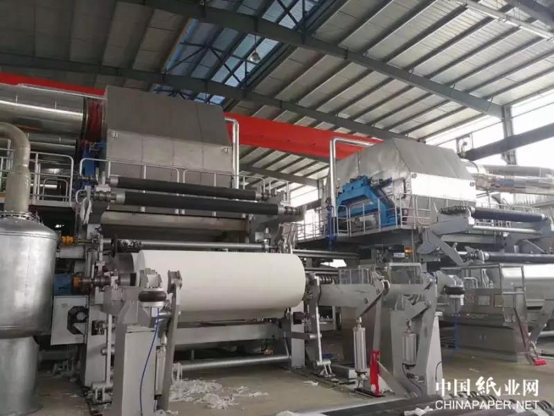 宝拓造纸设备七天内四台纸机相继投产