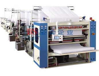 宝索MJ-V-SJ全自动V折上胶复合擦手纸折叠机